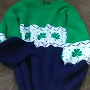 Traditional Irish Shamrock  Sweater